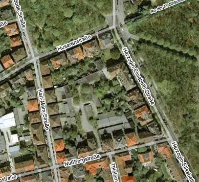 Luftbild vom Innenhof